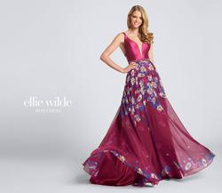 Style EW21705 Ellie Wilde Red Size 2 Tall Height Wedding Guest A-line Dress on Queenly