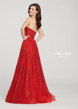 Style EW119002 Ellie Wilde Red Size 12 Pageant Tulle Tall Height A-line Dress on Queenly