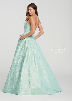 Style EW119013 Ellie Wilde Light Green Size 6 Prom Ball gown on Queenly