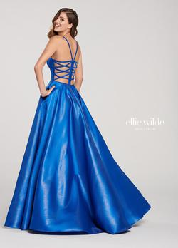 Style EW119181 Ellie Wilde Blue Size 4 Tall Height A-line Dress on Queenly