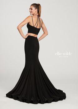 Style EW119152 Ellie Wilde Black Size 2 Side slit Dress on Queenly