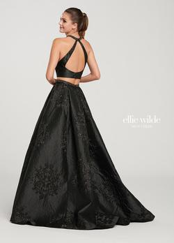 Style EW119151 Ellie Wilde Black Size 00 Prom Tall Height Ball gown on Queenly