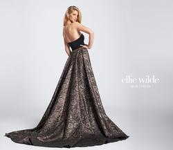 Style EW21768 Ellie Wilde Black Size 4 Pageant Train Tall Height Mermaid Dress on Queenly