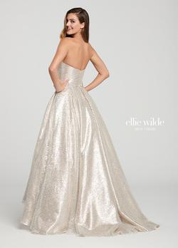 Style EW119077 Ellie Wilde Gold Size 12 Plus Size Tall Height A-line Dress on Queenly