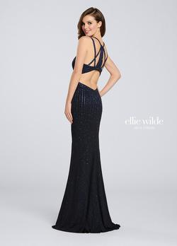 Style EW119019 Ellie Wilde Black Size 4 Prom Straight Dress on Queenly