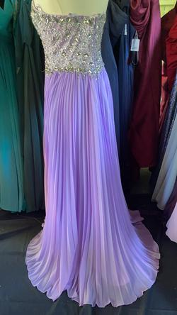 WOW COUTURE Purple Size 12 A-line Dress on Queenly