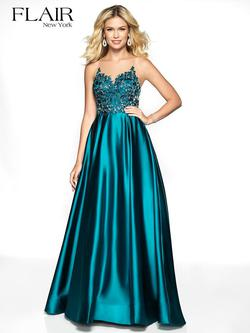 Style 19137 Flair Blue Size 16 Pageant Tall Height A-line Dress on Queenly