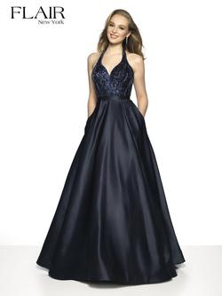 Style 19409 Flair Prom Blue Size 14 Prom Plus Size A-line Dress on Queenly