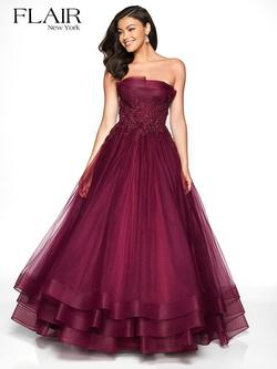 Style 19051 Flair Prom Red Size 16 Quinceanera Strapless Plus Size Ball gown on Queenly