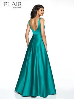 Style 19017 Flair Prom Green Size 12 Plus Size Pockets A-line Dress on Queenly