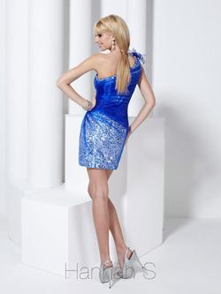 Style 27755 Hannah S Royal Blue Size 2 Fun Fashion Prom Cocktail Dress on Queenly