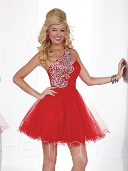 Style 27853 Hannah S Red Size 4 Pageant Fun Fashion Cocktail Dress on Queenly