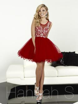 Style 27071 Hannah S Red Size 4 Flare A-line Tulle Cocktail Dress on Queenly