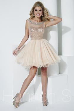 Style 27955 Hannah S Gold Size 0 Tall Height Cocktail Dress on Queenly