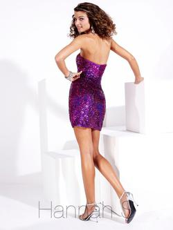 Style 27681 Hannah S Purple Size 6 Jewelled Prom Sorority Formal Cocktail Dress on Queenly