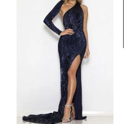 Abyss by Abby Blue Size 4 Side slit Dress on Queenly