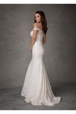Style 97100 Iva Remington White Size 12 Homecoming Tall Height Lace Mermaid Dress on Queenly