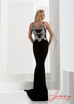 Style 5676 Jasz Couture Black Size 2 Sorority Formal Pageant Sequin Side slit Dress on Queenly