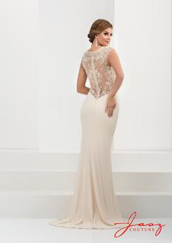 Style 5623 Jasz Couture White Size 4 Jewelled Tall Height Mermaid Dress on Queenly