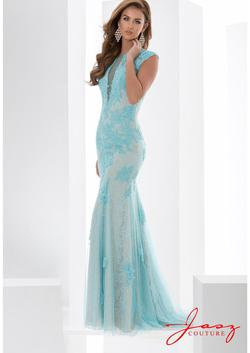 Style 5601 Jasz Couture Blue Size 12 Plus Size Prom Bridesmaid Mermaid Dress on Queenly