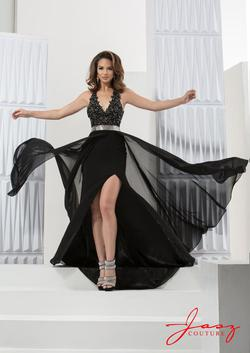 Style 5753 Jasz Couture Black Size 8 Prom Fun Fashion Side slit Dress on Queenly