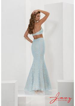 Style 5651 Jasz Couture Blue Size 10 Prom Pageant Halter Mermaid Dress on Queenly