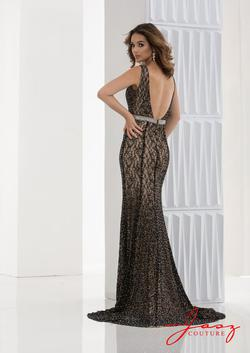 Style 5643 Jasz Couture Black Size 10 Nude Tall Height Mermaid Dress on Queenly