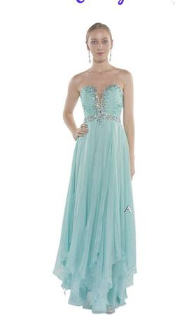 Alyce Paris Blue Size 00 Straight Dress on Queenly
