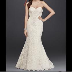 Oleg Cassini White Size 2 Wedding Mermaid Dress on Queenly