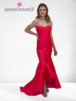 Larissa Couture LV Pink Size 4 Mermaid Dress on Queenly