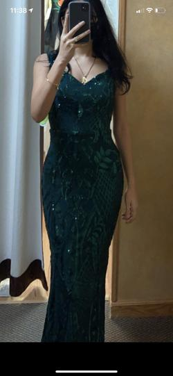 Green Size 0 Mermaid Dress on Queenly