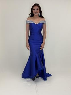 Larissa Couture LV Blue Size 6 Mermaid Dress on Queenly