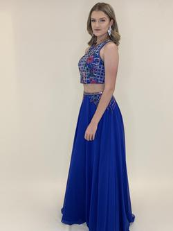 Larissa Couture LV Blue Size 4 Ball gown on Queenly