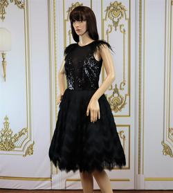Larissa Couture LV Black Size 6 Cocktail Dress on Queenly