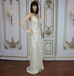 Cinderella Divine Silver Size 12 Side slit Dress on Queenly
