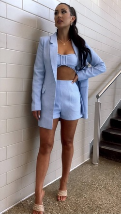Blue Size 2 Jumpsuit Dress on Queenly