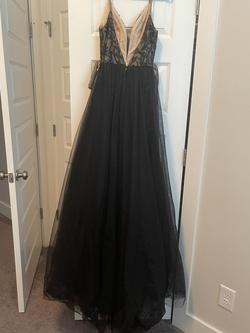 Rachel Allan Black Size 2 Overskirt Straight Dress on Queenly