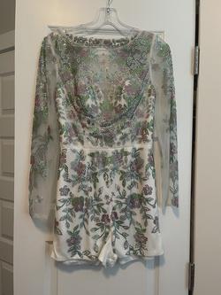 Rachel Allan White Size 6 Prom Fun Fashion Jumpsuit Dress on Queenly