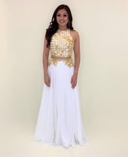 Cinderella Divine Gold Size 6 Ball gown on Queenly