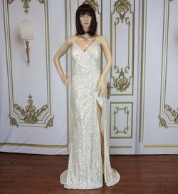 Cinderella Divine Gold Size 12 Side slit Dress on Queenly