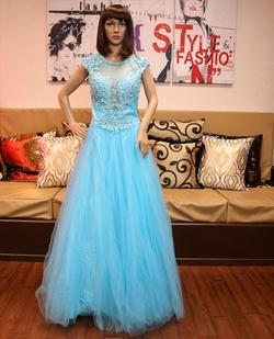 Cinderella Divine Blue Size 6 Ball gown on Queenly