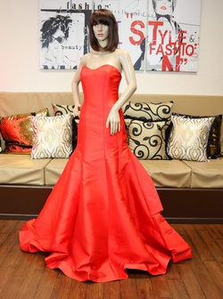 Andrea & Leo Couture Red Size 12 Ball gown on Queenly