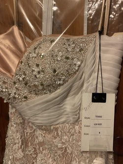 Mac Duggal Nude Size 6 Prom Train Mermaid Dress on Queenly