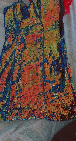 Multicolor Size 6 Straight Dress on Queenly