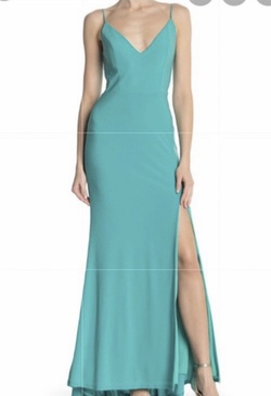 Green Size 10 Side slit Dress on Queenly
