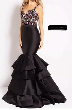 Jovani Black Size 4 Sequin Jewelled Mermaid Dress on Queenly