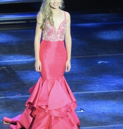 Jovani Pink Size 2 Pageant Mermaid Dress on Queenly