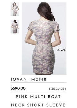 Jovani Multicolor Size 0 Mini Cocktail Dress on Queenly
