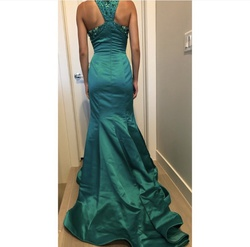 Sherri Hill Green Size 4 Tall Height Mermaid Dress on Queenly