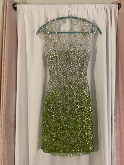 Jovani Green Size 4 Cocktail Dress on Queenly